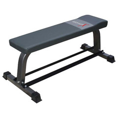 Bodyworx Flat Bench with Dumbbell Rack