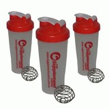 3 x 600ml Protein Supplement Shakers