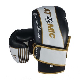Atomic Premium Leather Boxing Glove - Blk/Wht/Gold