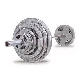 100kg Olympic Bar and Hammertone Weight Pack